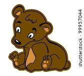 cartoon illustration of cute... | Shutterstock .eps vector #99957044