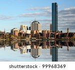 Skyline of Back Bay Boston, Massachusetts - stock photo