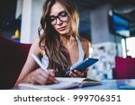serious female student in... | Shutterstock . vector #999706351