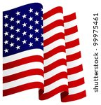 waving u.s. flag | Shutterstock .eps vector #99975461