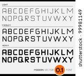 vector font design light ... | Shutterstock .eps vector #99981149