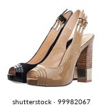 Two Luxury Women Shoes Isolated ...