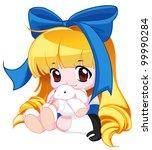 cute baby   Shutterstock . vector #99990284