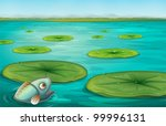 Illustration Of Lily Pads On...