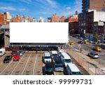 Empty Blank Billboard In New...