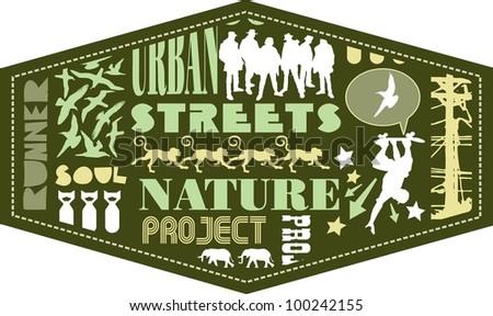 vector urban street
