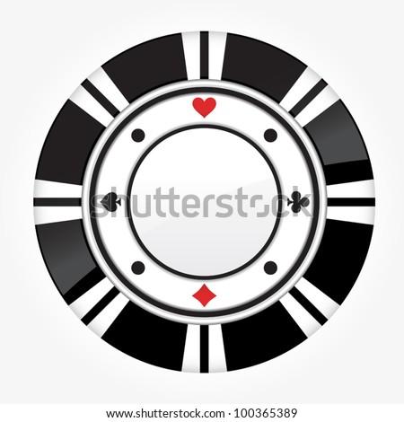 single black casino chip