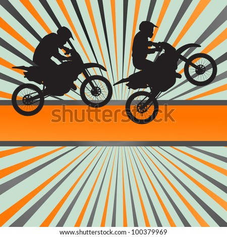 race motorcycle burst vector