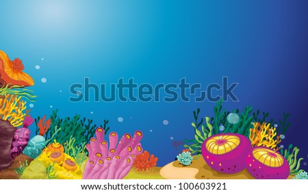 illustration of an underwater