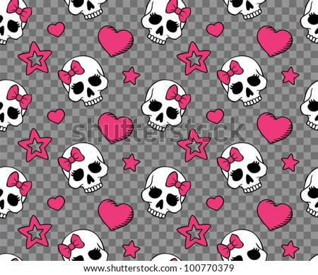 vector seamless with hearts and