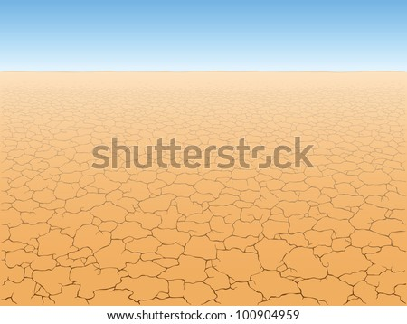desert landscape with cracked