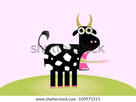 decorative funny cow