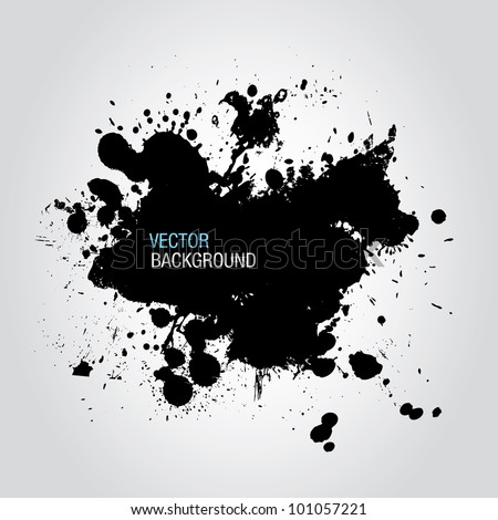 black ink splatter background