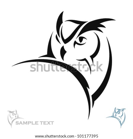 owl portrait   vector