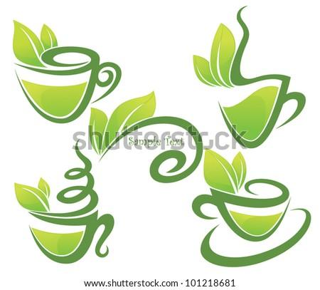 green tea  vector collection