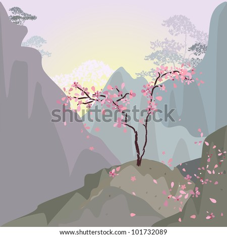 mountain landscape in the