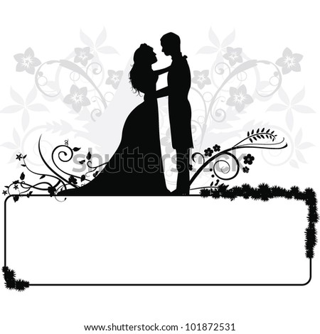 Wedding Couple Silhouette Vector Free Download 7169