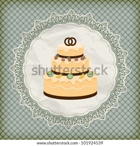 vector retro wedding invitation