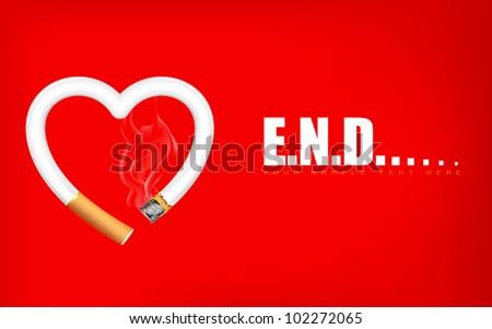 illustration of burning heart