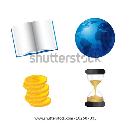 book  world with coins and