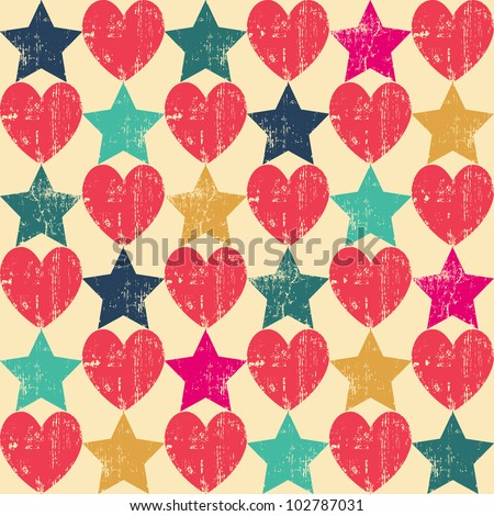 seamless retro pattern texture