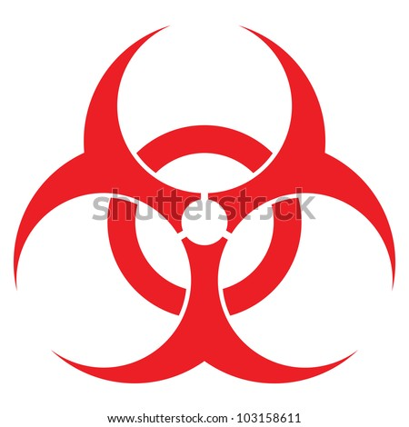 biohazard sign  vector format