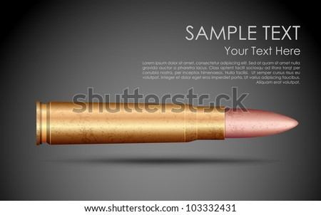 illustration of rifle bullet on