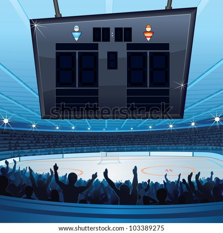 hockey stadium background with