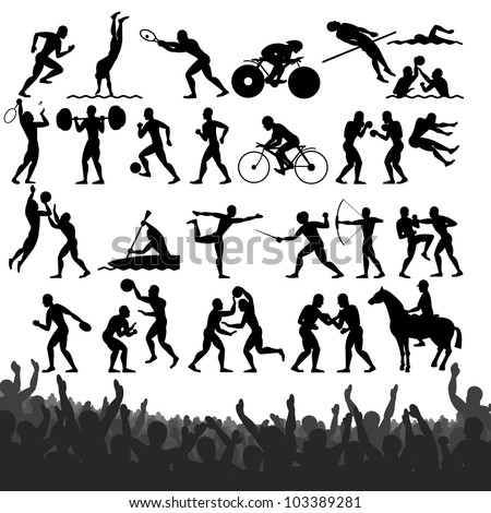 silhouettes of summer olympic