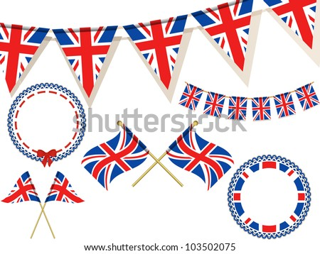 set of union jack flags