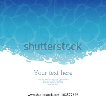 vector illustration of water