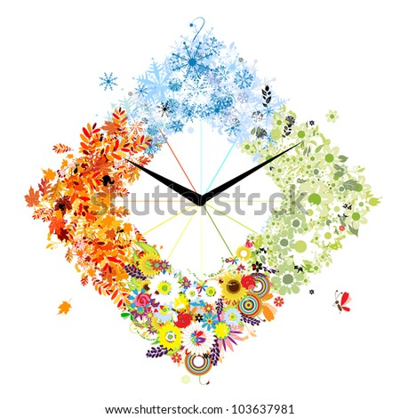 design of clock four seasons