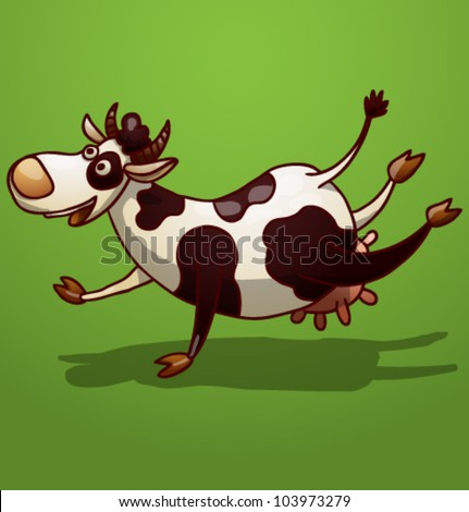 vector funny cow 2