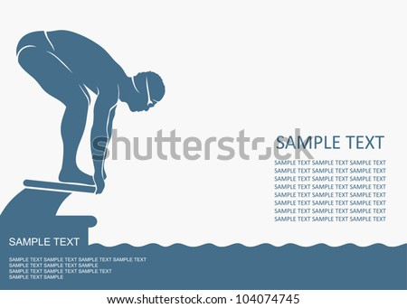 swimmer background   vector