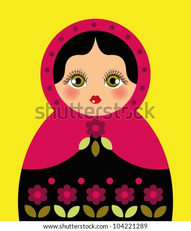 russian doll ideal for card