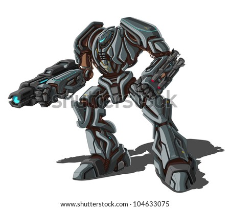 vector illustration of robot on