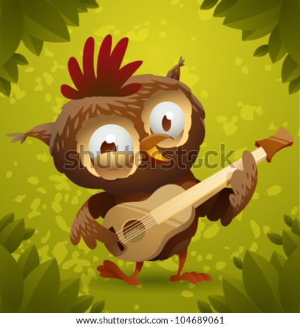 vector funny owl 5  owl playing