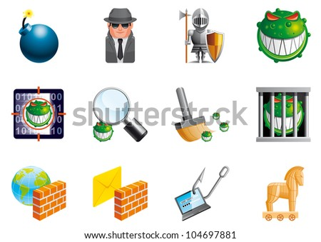 internet security icons  eps