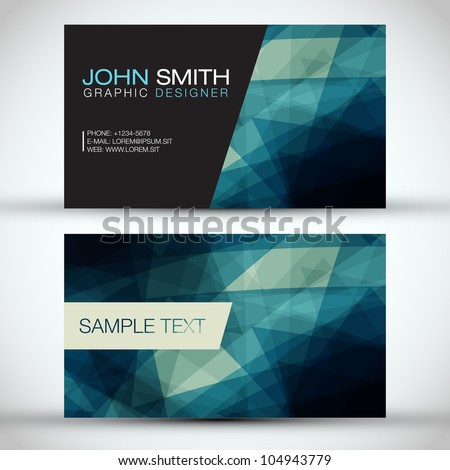 blue modern business card set