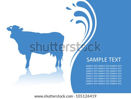 background with cow   vector
