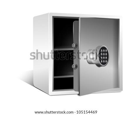 empty safe with safe lock set