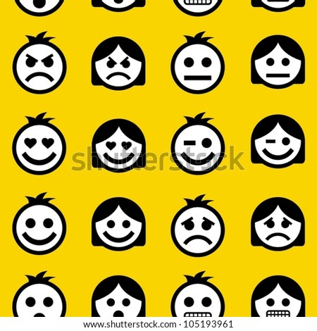 emotions seamless pattern