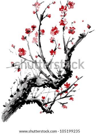 realistic sakura blossom