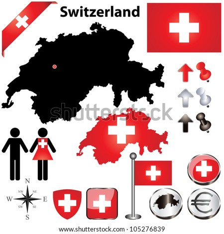 vector set of switzerland