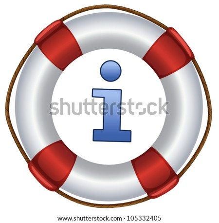 a closeup picture of lifebuoy