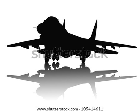 jet fighter with reflection