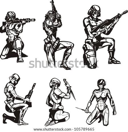 amazon cyborgs set of black