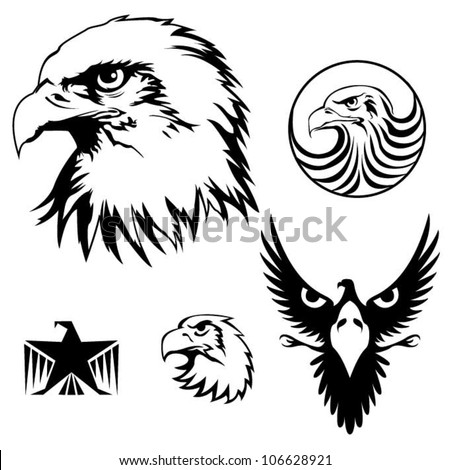 eagle setset of heraldry