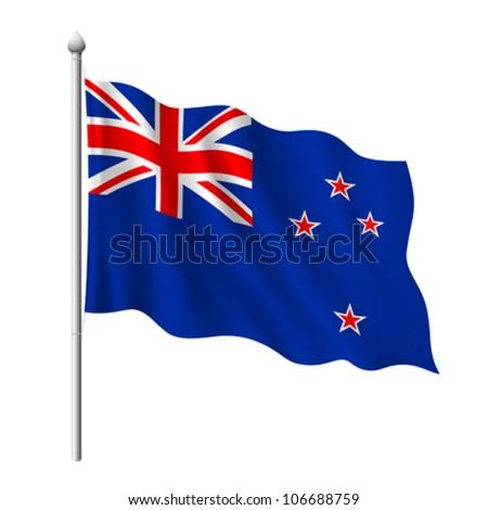 flag of new zealand  vector