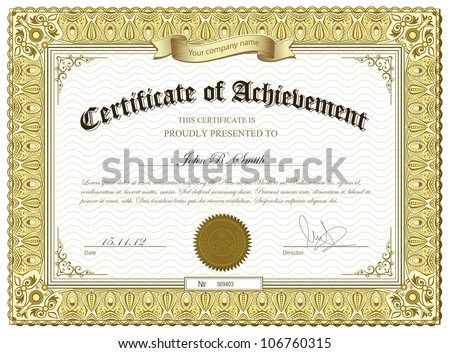 gold certificate borders and border lines free vector download
